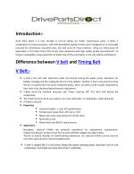 Difference Between V Belt and Timing Belt - Drive Parts Direct