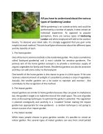 All you have to understand about the various types of Gardening London