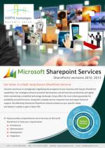 Karya's Services on Microsoft SharePoint Meets All Your Requirements at Affordable Price