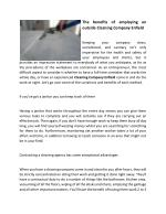 The benefits of employing an outside Cleaning Company Enfield