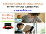 XMGT 230 Course tutorial/uophelp
