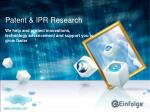 Validity & Invalidity Search by Einfolge Technologies