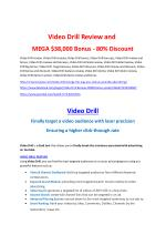 Video Drill Review & Video Drill $16,700 bonuses