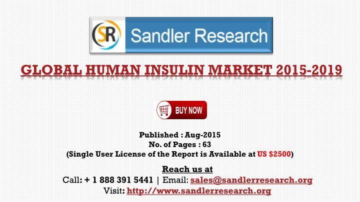 global human insulin market 2015 2019 n.