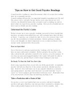 Tips on how to get good psychic readings