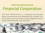 Swift Funds Financial Services _Financial Corporation