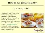 How to eat & stay healthy