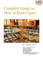 Complete Guide on how to Store Cigars