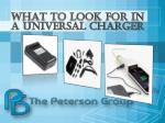 What to Look for in a Universal Charger