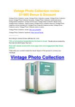 Vintage Photo Collection Review-TRUST about Vintage Photo Collection and 80% discount
