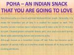 Poha – an indian snack that you are going to love