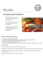 Fssc 22000 certification by ursindia