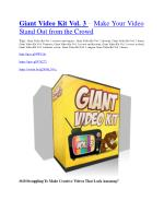 Giant Video Kit Vol. 3 review and giant bonus with 100 items