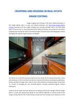 CROPPING AND RESIZING IN REAL ESTATE IMAGE EDITING