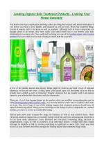 Leading organic skin treatment products looking your finest generally