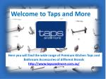 Tapwares and Bathroom Accessories