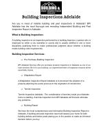Building And Strata Inspection Report Adelaide