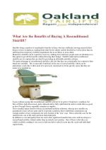 What Are the Benefits of Buying A Reconditioned Stairlift?