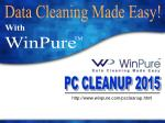 WinPure Computer Clean Up Software   Free Trial