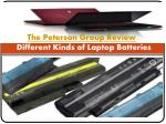The Peterson Group Review: Different Kinds of Laptop Batteries