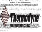 Thermodyne Foodservice Products has joined AutoQuotes in an effort to streamline the quoting and sales process.