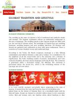 Gujarat tradition and lifestyle