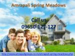 Amrapali Spring meadows Greater Noida West