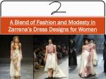 A Blend of Fashion and Modesty in Zarrena's Dress Designs for Women