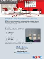 Blinds N Shutters – A big collection of Blinds for Your Windows and Doors
