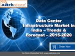 Data Center Infrastructure Market in India – Trends & Forecast – 2015-2020