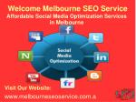 Social Media Management | Social Media Optimization Melbourne