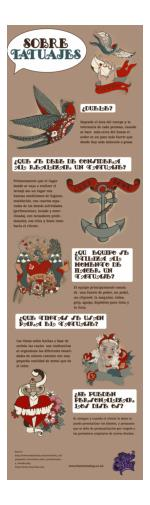 Tattoo Guide for Newbies: Tattoo Art Q&A [Infographic in Spanish]