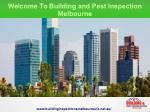Pre Purchase Building Inspection Melbourne
