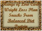Range of Low Carb Weight Loss Plan Snacks