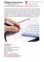 Outsourcing Bookkeeping Services India