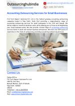 Accounting Outsourcing Services for Small Businesses