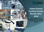 Global Enteral Feeding Devices Market 2012-2016 - Market Size, Trends, Growth & Forecast