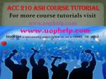 ACC 210 - uop Course Tutorial/uophelp