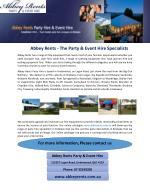 Abbey Rents - The Party & Event Hire Specialists