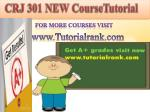 CRJ 301 (New) ASH course tutorial/tutorial rank