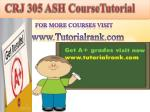 CRJ 305 ash course tutorial/tutorial rank