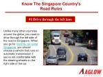 Know the Singapore country's road rules