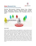 Polymer microinjection molding market size, market share, analysis and Forecast 2012 - 2020