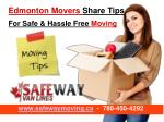 EdmontonMovers Share Tips For Safe & Hassle Free Moving