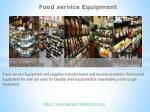 Food servicve Equipment