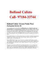 2 bhk flat in Noida Extension - Bulland Calisto Sector 10