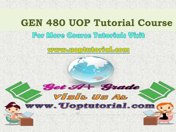 gen 480 uop tutorial course n.