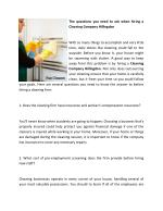 The questions you need to ask when hiring a Cleaning Company Hillingdon
