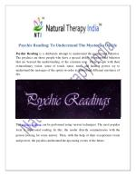 Psychic Reading   Best Psychic Reader In India