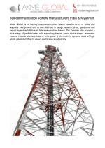 Telecommunication Towers Manufacturers India & Myanmar